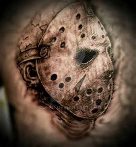 jason tattoo realistic jason by aenema777