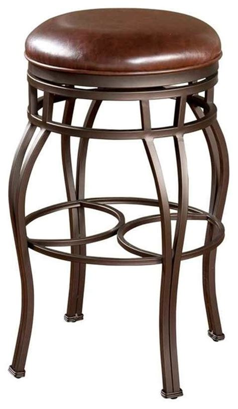 leather counter height bar stools bella backless counter or bar stool w swivel leather