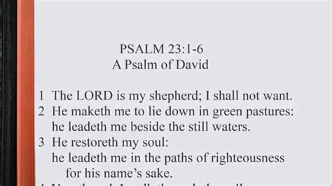 psalm 23 1 6 kjv scripture song alternate version