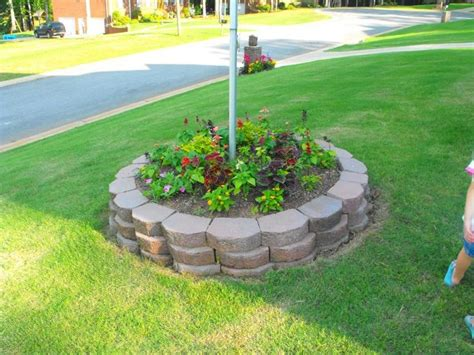 flagpole flower bed idea pictures landscaping ideas