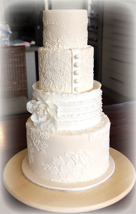 Lace Templates For Cakes by Lace Wedding Cake Tutorial Cakes