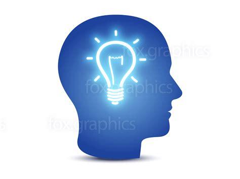 head with lightbulb idea concept fox graphics