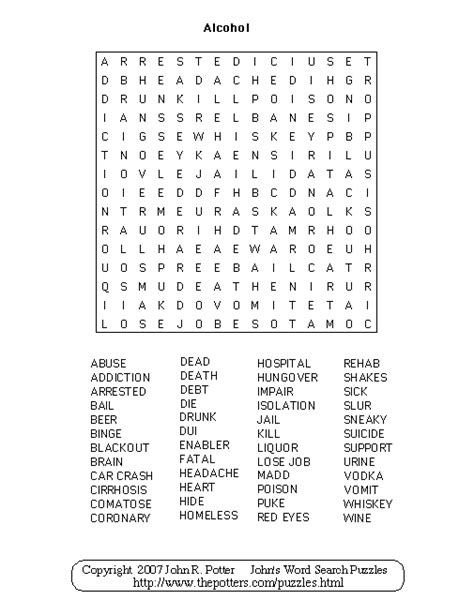 printable recovery puzzles substance abuse recovery word search quotes