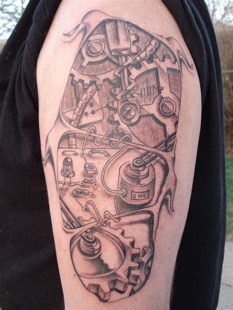 machine arm tattoo designs biomechanical tattoos designs ideas