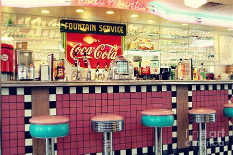 retro 50s diner decor retro diner photograph by sylvia cook