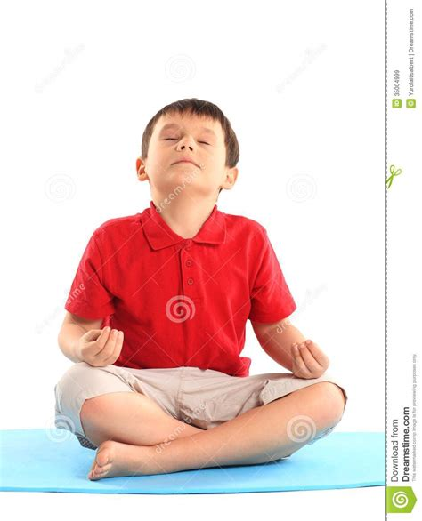 boy s the little boy does exercise stock image image of