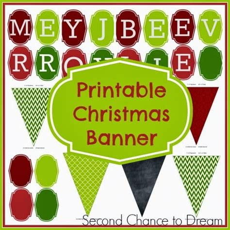 printable christmas banner letters free holiday printables backgrounds more coffee with us 3