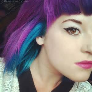 purple blue hair color pin by rosie on hair