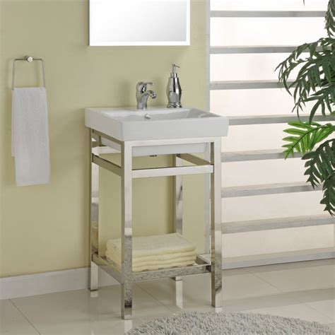 south 21 stainless steel vanity console for 21