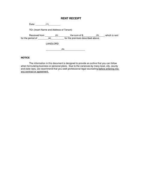 best photos of rent receipt template pdf free printable
