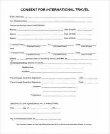 child travel consent form sle 6 free documents in