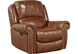 Brown Leather Recliner Sofas Abruzzo Brown Leather Glider Recliner Recliners Brown