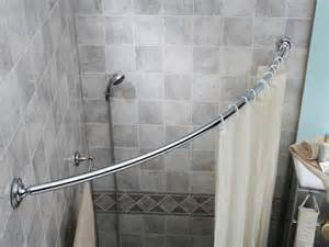 shower curtain rods looks clean and modern