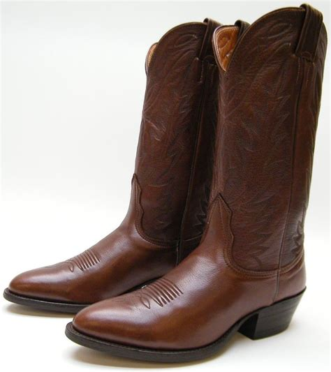 womens nocona 7520 brown soft leather cowboy western boots