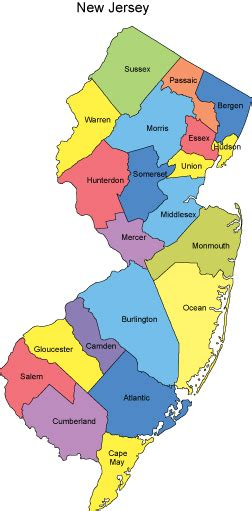 nj counties map new jersey powerpoint map counties