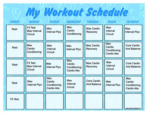 printable insanity workout calendar calendar template 2016