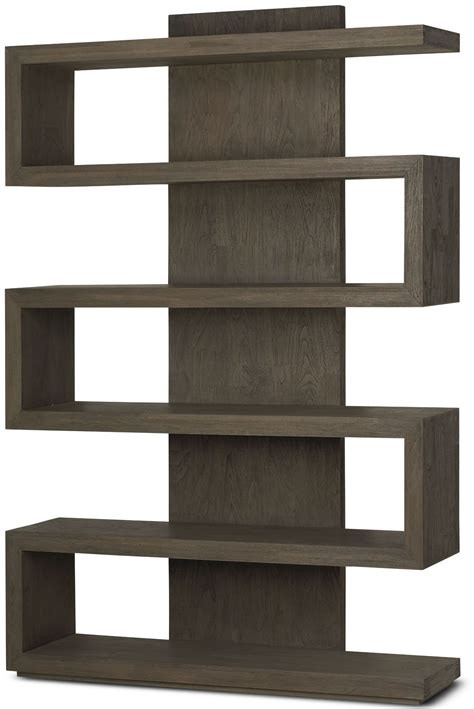 harrison driftwood bookcase hsd401 brownstone