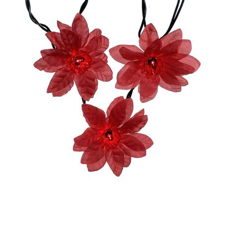 Light The Fuse Novelty Lights Red Poinsettia Light Set Ul0038r