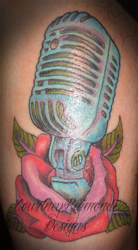 studio microphone tattoo designs microphone tattoo picture