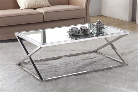 Stainless Steel Glass Coffee Table Stainless Steel Coffee Table With Glass Top Coffee Table Design Ideas