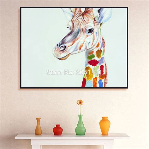 hand painted home decor hand painted home decor wall art picture cute kid animal