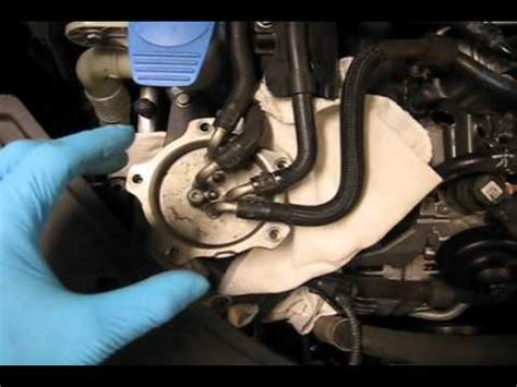 how petrol cars work 2004 volkswagen passat engine control 2009 vw jetta tdi fuel filter change youtube