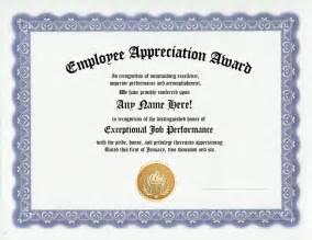 appreciation award templates employee appreciation award certificate office work