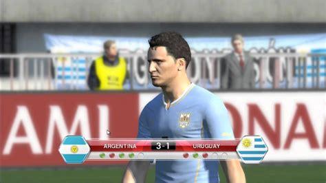 argentina vs uruguay copa america 2011 argentina vs uruguay copa am 233 rica 2011 pes 2014 youtube
