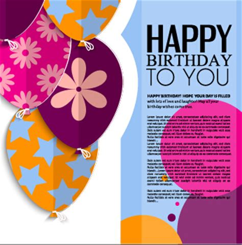 free birthday website templates template birthday greeting card vector material 04
