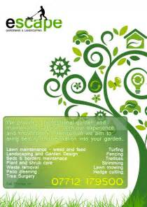 kin escape gardening flyer design