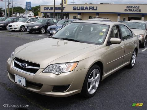 2008 Harvest Gold Metallic Subaru Legacy 2 5i Sedan