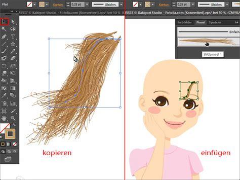adobe illustrator tutorial zeichnen haare malen haare zeichnen in illustrator illustrator