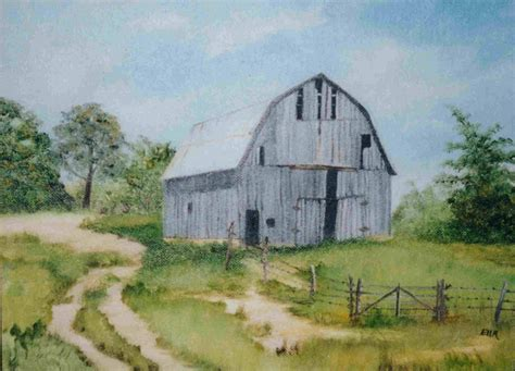 scheune gemalt painting of a well used barn barns 2