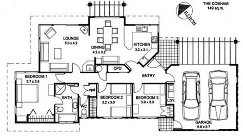 wide block house designs wide frontage house plans