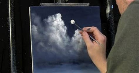 acrylic painting sky tutorial moonlit sky clouds acrylic painting lesson
