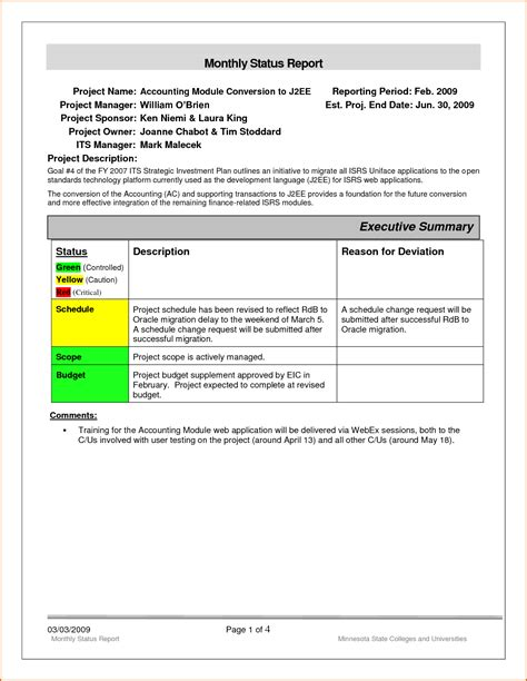 7 Monthly Report Template Authorizationletters Org Accountants Report Template