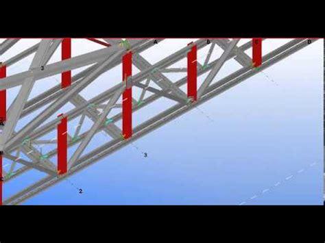 bridge pattern youtube raily way truss through bridge design by tekla