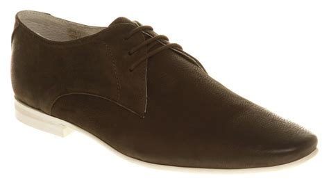 mens office apex white sole lace up brown leather shoes ebay