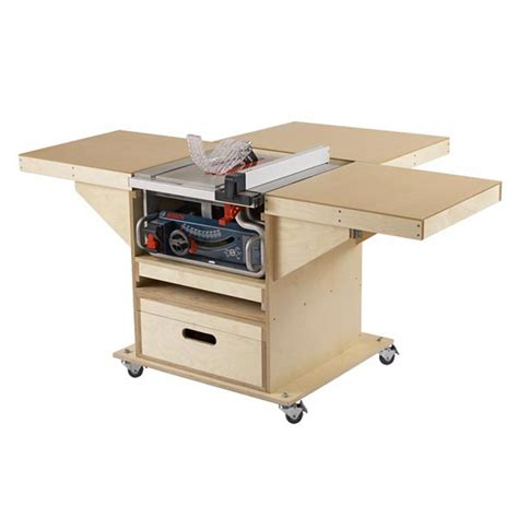 table saw bench plans quick convert tablesaw router station woodworking plan