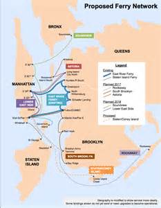 New York Ferry Map by Citywide Ferry To Add Service With Shuttle Buses To New