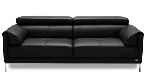Sofa Eaton by Eaton Black Leather Sofa Zuri Furniture