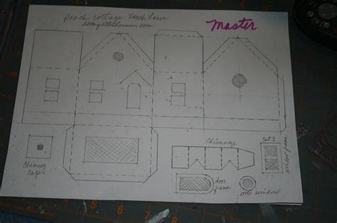 card stock house templates glitter house patterns copy of the master pattern i