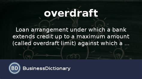 bank overdraft what is overdraft definition and meaning