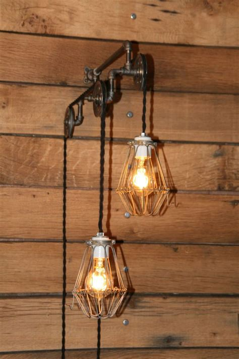 Pendant Wall Light Industrial Pulley Light Wall Sconce Trolley Wall Light With Hanging Pendant Lights Pendant