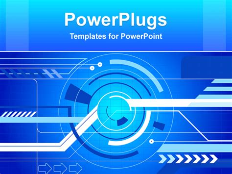 Powerpoint Template Animated Abstract Graphical Depiction On A Light Blue Background 1909 Animated Powerpoint Template