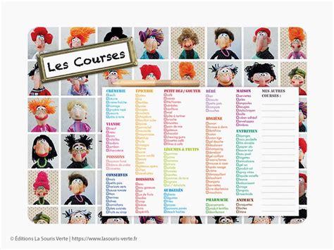 Liste De Courses by Liste De Courses Quot Humour Quot 201 Ditions La Souris Verte