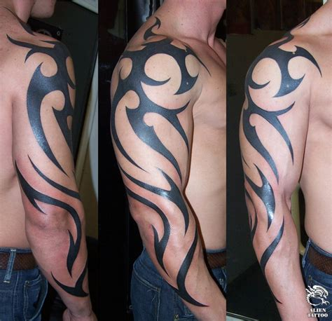 tribal sleeve tattoo for men arm tribal tattoos for