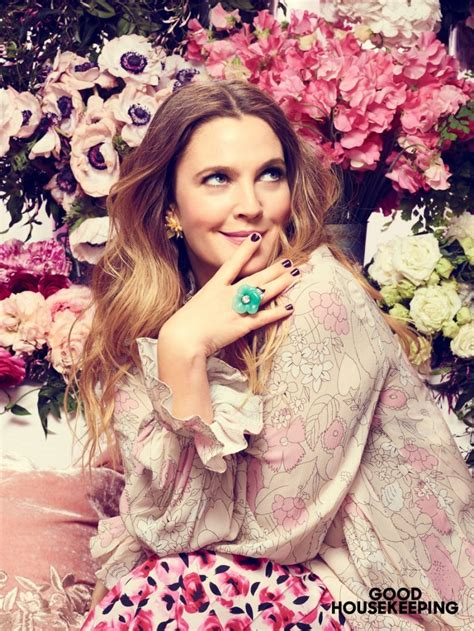 Drew Barrymore Looking Pretty On The Cover Of Janes March Issue by Drew Barrymore Covers Housekeeping Talks Flower