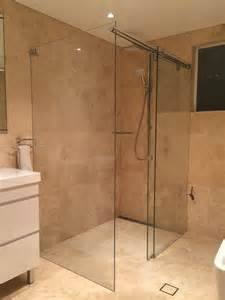 Quality Bath Vanities Sliding Frameless Shower Screen White Bathroom Co