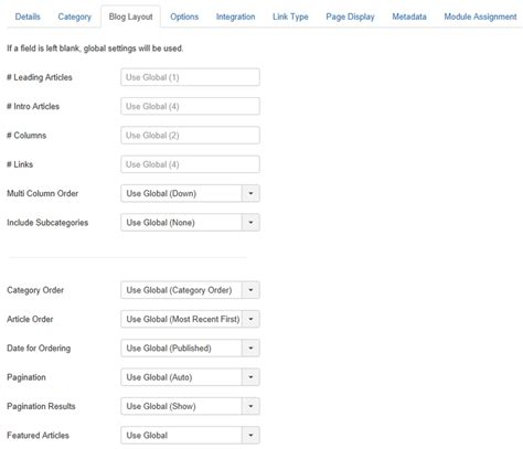 change category blog layout joomla help38 menus menu item article category blog joomla